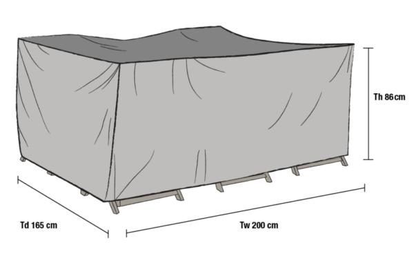 Matgrupp möbelskydd Grå 200x165 cm