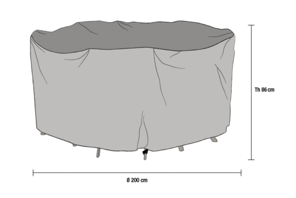 Matgrupp möbelskydd Grå Diameter 200 cm