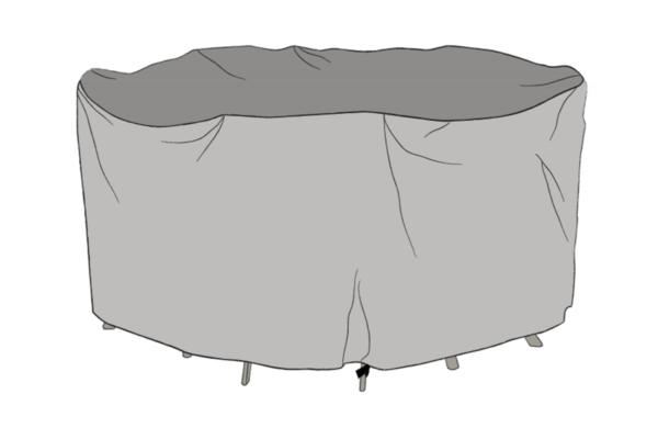 Matgrupp möbelskydd Grå Diameter 300 cm