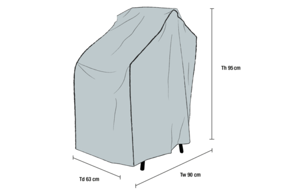 Stapelstol möbelskydd Grå 90x63 cm