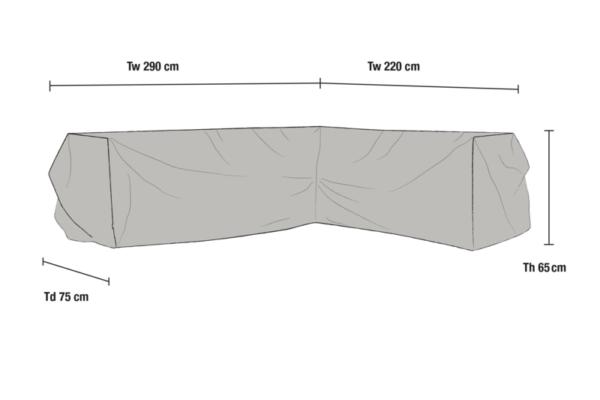Leone soffskydd Grå 290x220 cm