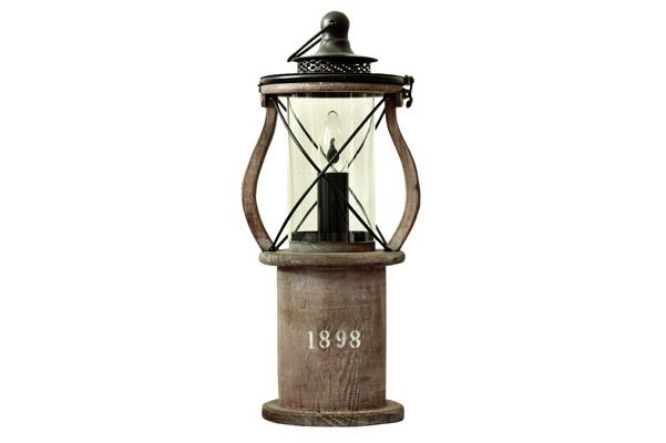 1898 Bordslampa (Trä eller vit med klart glas)