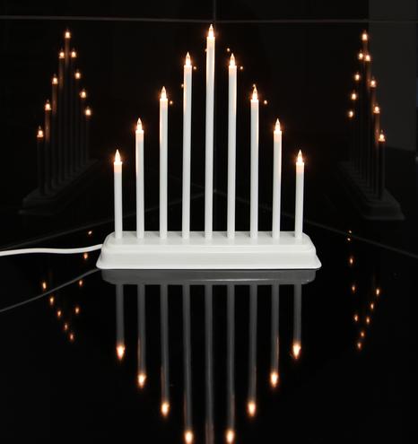 Trix Ljusstake vit, 9 ljus