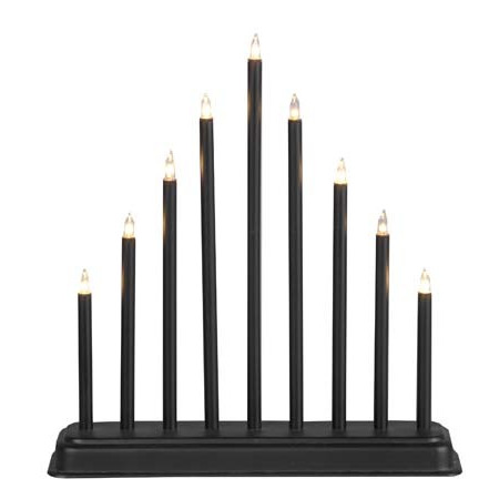 Trix Ljusstake svart, 9 ljus