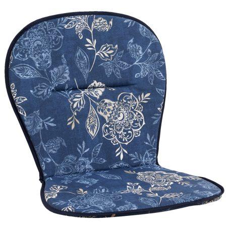 Låg stapelstolsdyna, flower, nadira blue & nadira black
