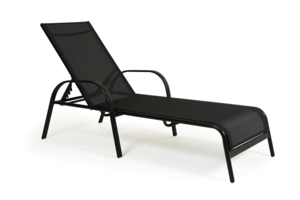 Creston lounger, endast i svart
