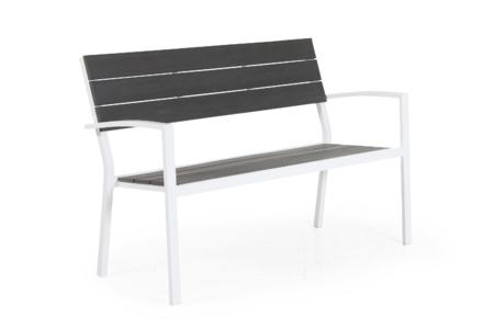 Leone 2-sitssoffa, stapelbar - vit matt