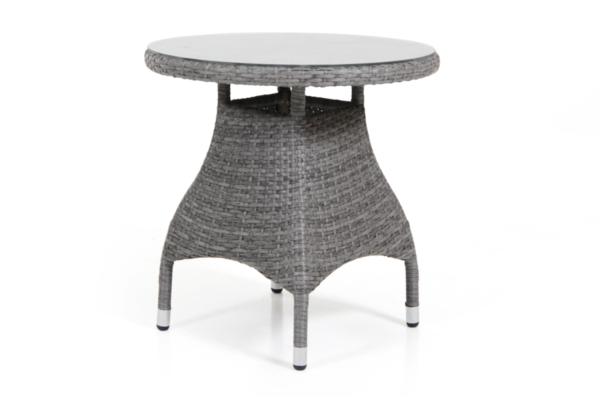 Ninja cafèbord, grå med glas.