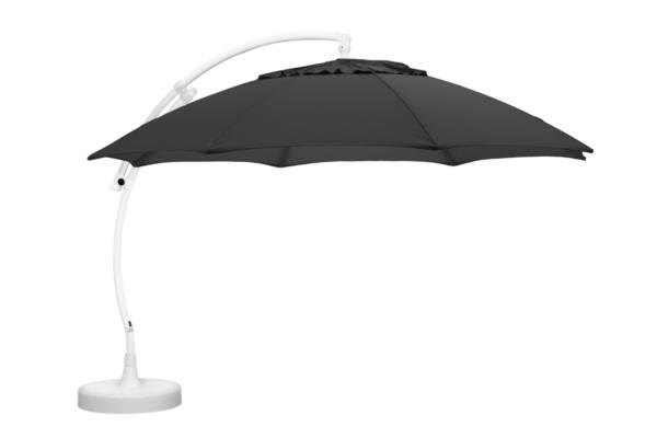 Easy Sun frihängande parasoll/fot Vit och Antracit