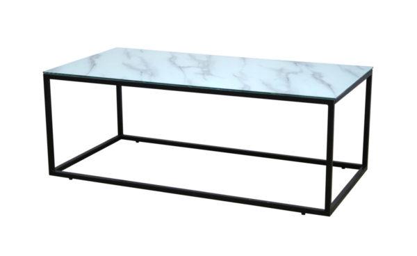 Rock soffbord 120*80 svart/glass/marmor (19905-328)