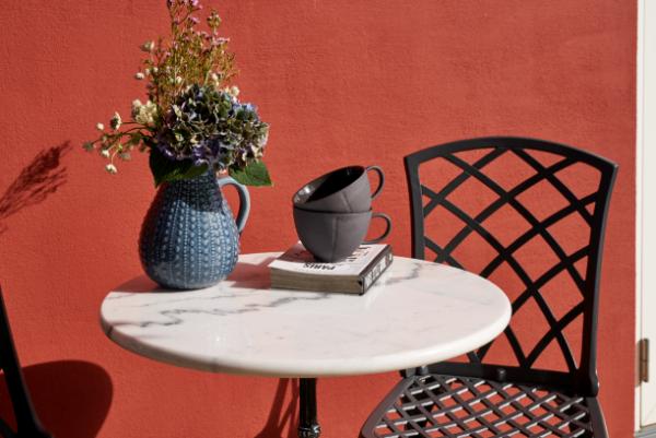 Loire cafébord marmor -vit eller svart