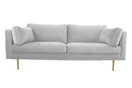 Beige manchester soffa