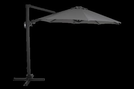 Varallo frihängande parasoll grå 3x3m
