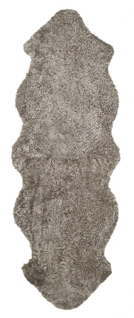 Curly Dubbelt Fårskinn - Ljusbrun (Sahara)