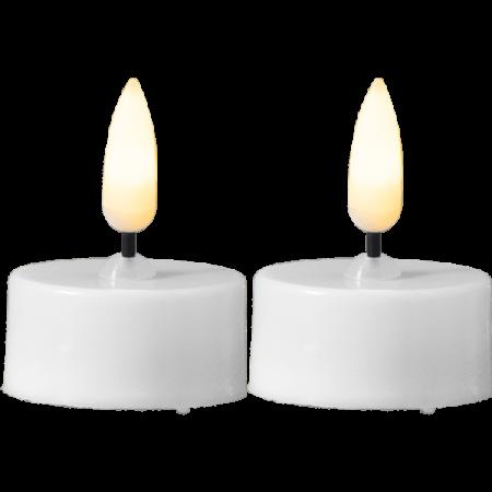 LED värmeljus 2-pack Flamme