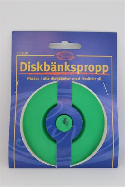 Diskbänkspropp - försänkt sil